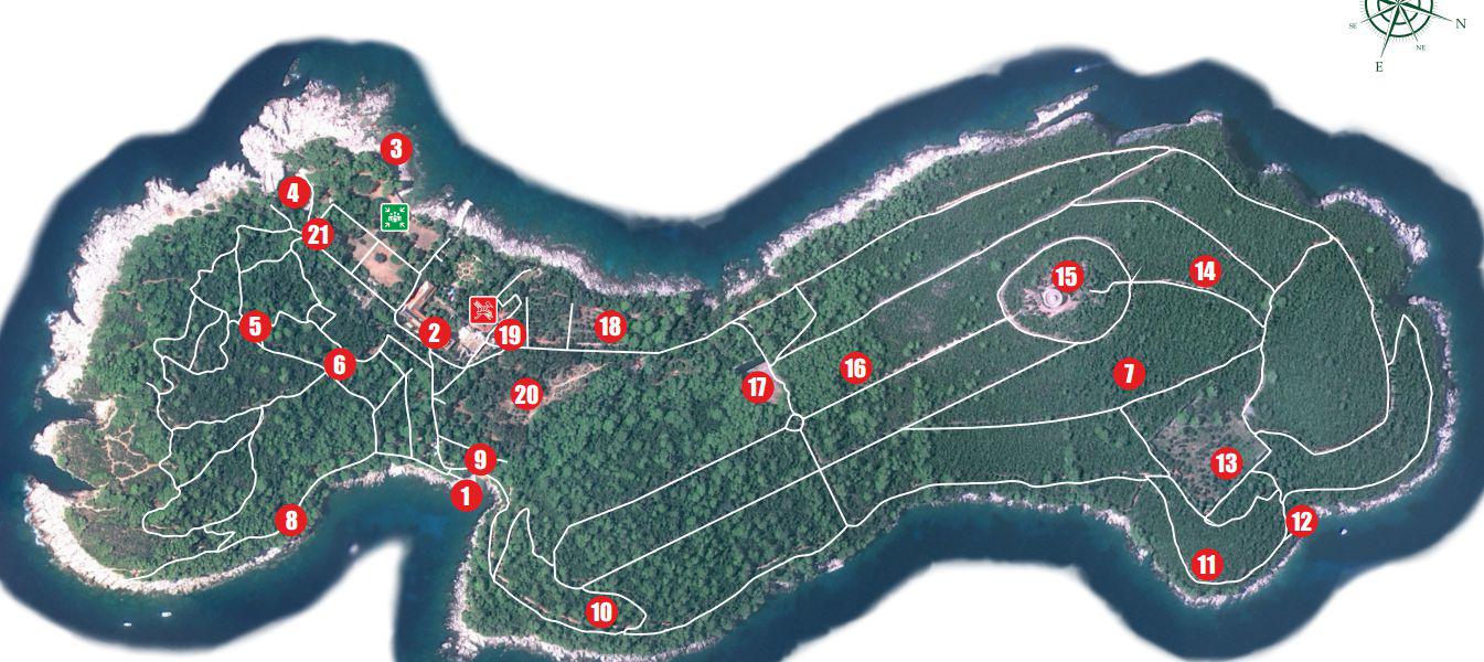 Ilha de Lokrum mapa