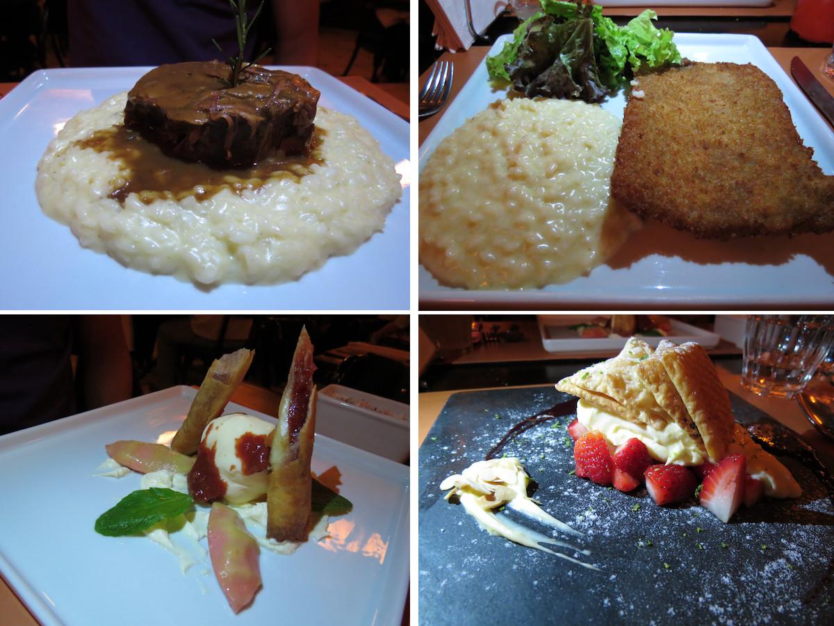 hollandaise pratos e sobremesa