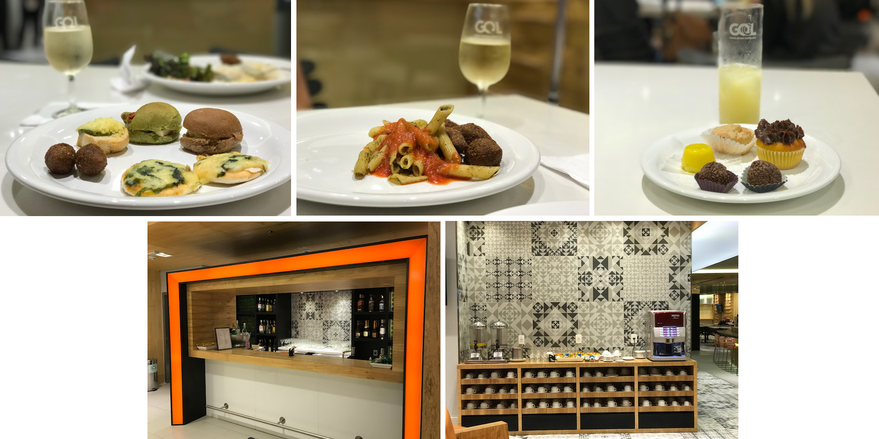 gol premium lounge comidas bar