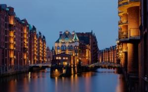 Hamburg, Speicherstadt, Wasserschloss