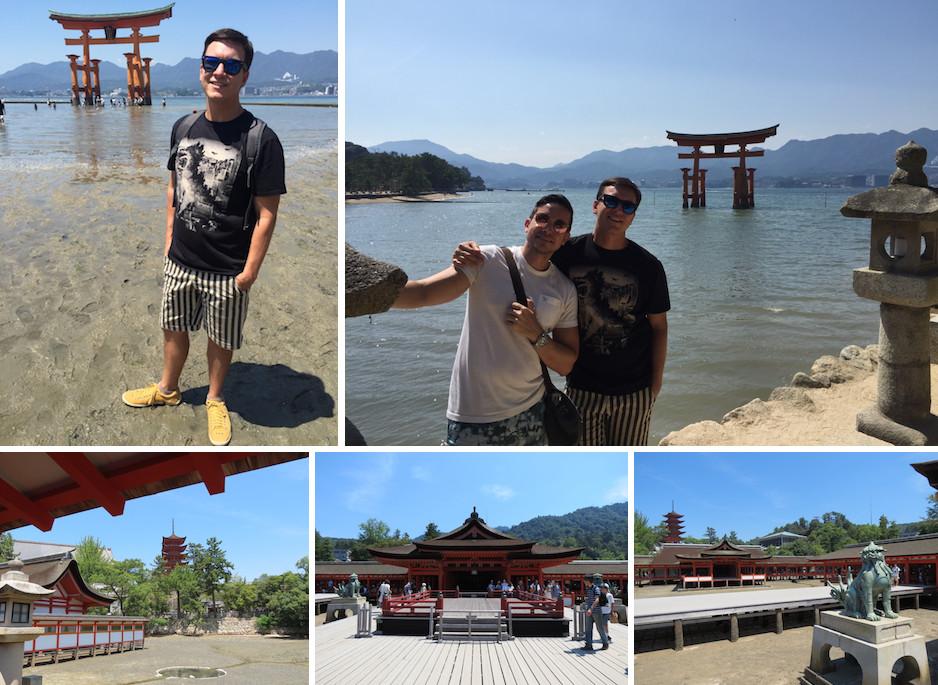 torii flutuante itsukushima