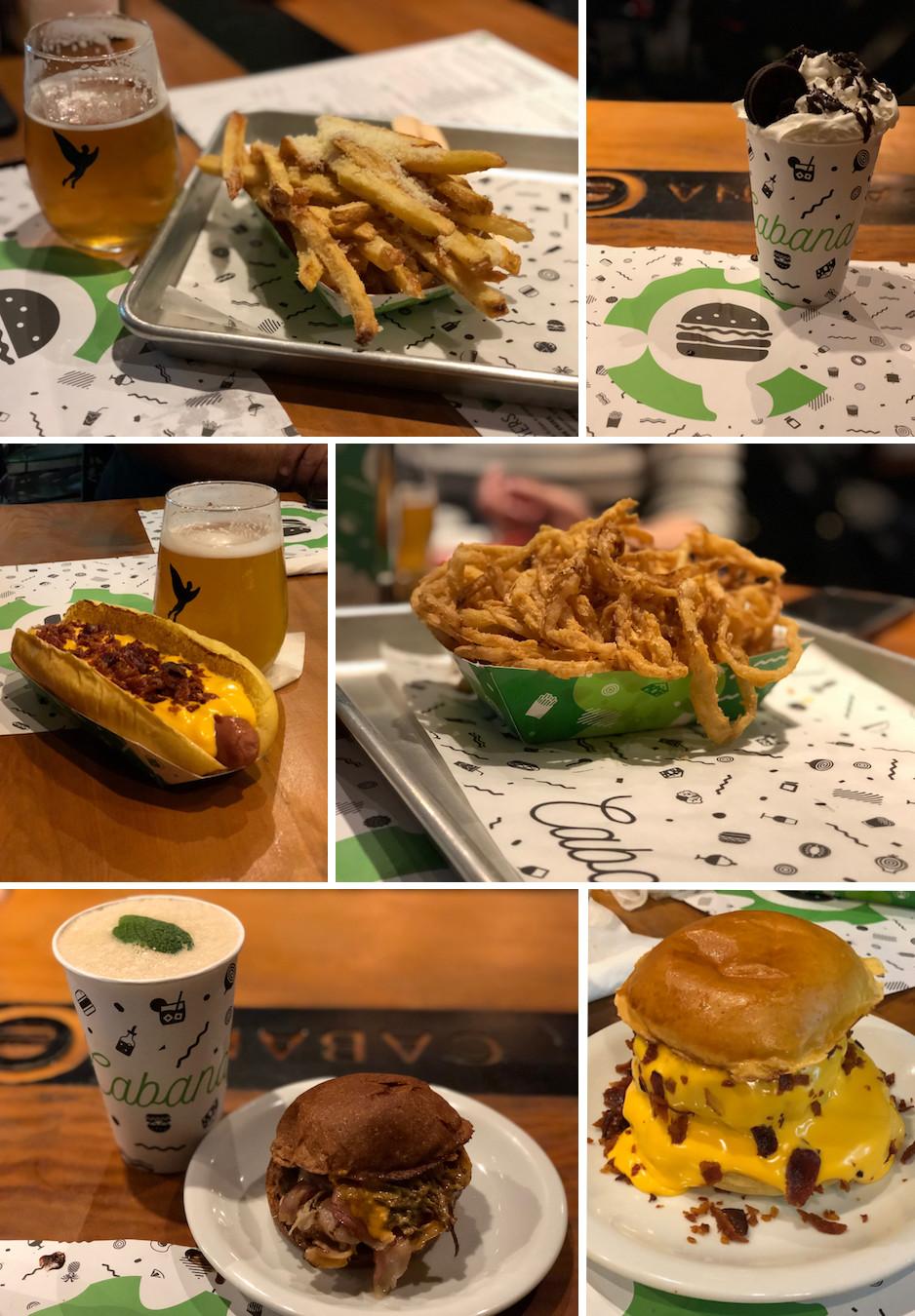cabana burger sanduiches
